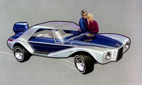 1970 Brooks Stevens Evinrude Lakester sketch 600