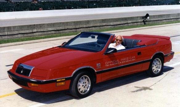 1987 Chrysler LeBaron Turbo pit lane