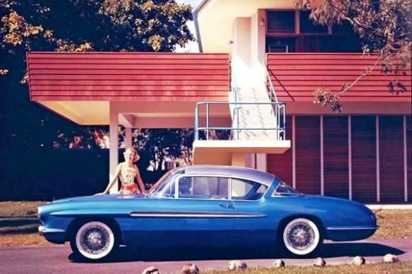 1956 Corvette Impala concept blue