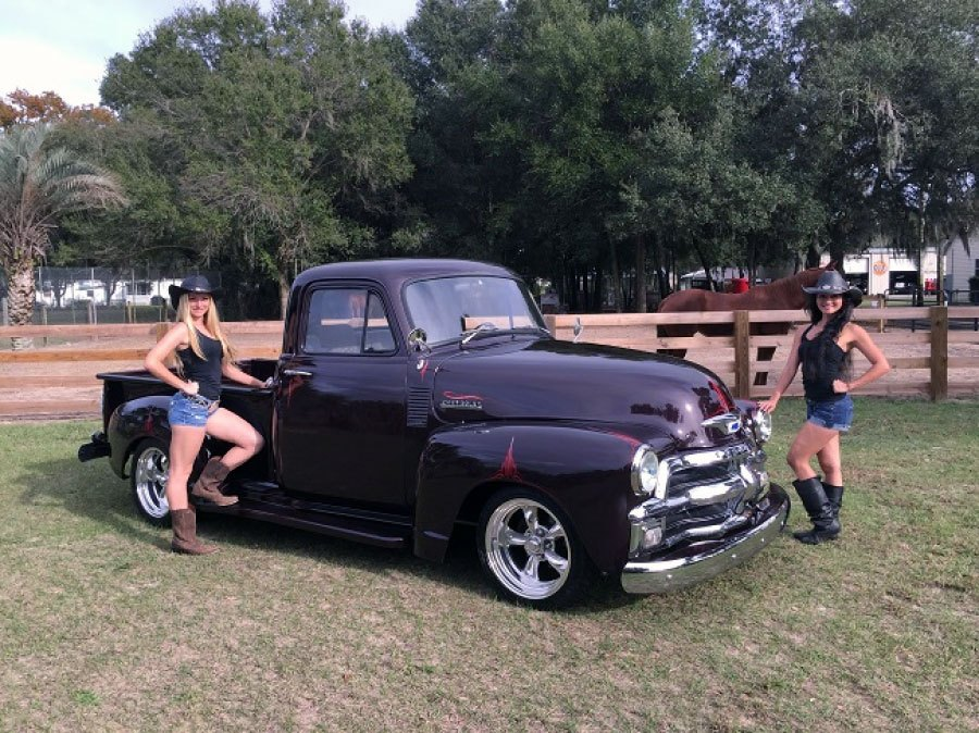 1954 Chevy step side pickup truck