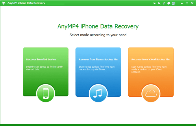 AnyMP4 iPhone Data Recovery Mac OS X Crack