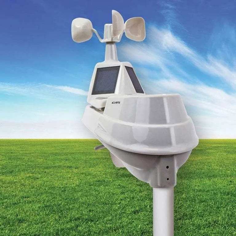 AcuRite 06014RM 5-in-1 Pro Weather Sensor with Rain Gauge Temperature and Humidity Wind Speed Wind Direction