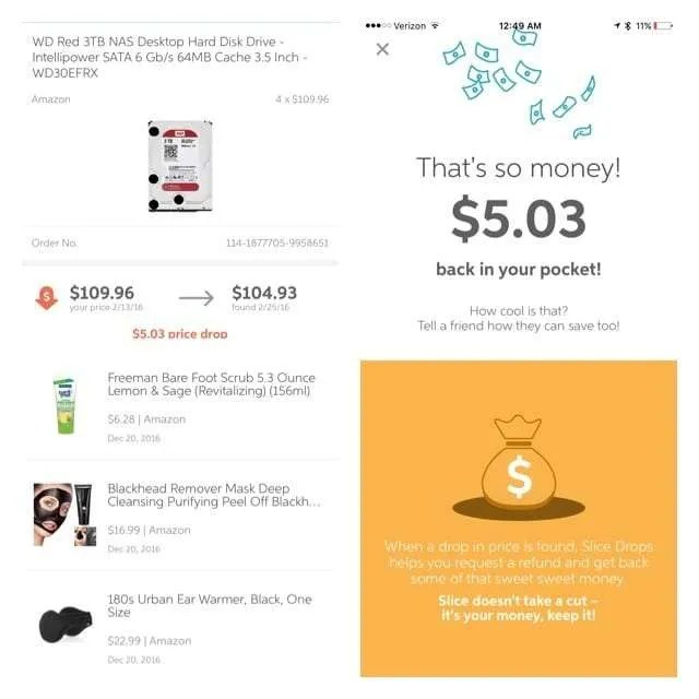 Slice Drops iOS App REVIEW Price Protection Application