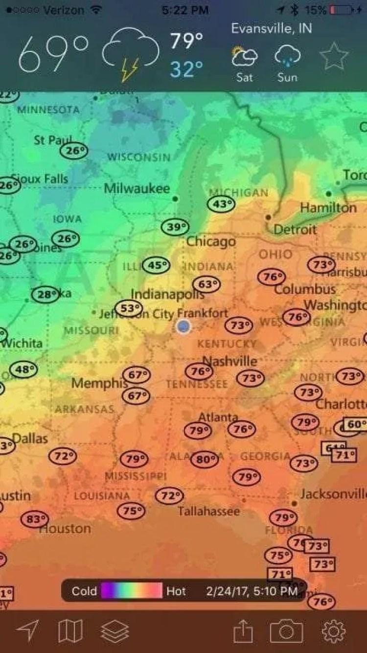 MyRadar NOAA Weather Radar iOS App