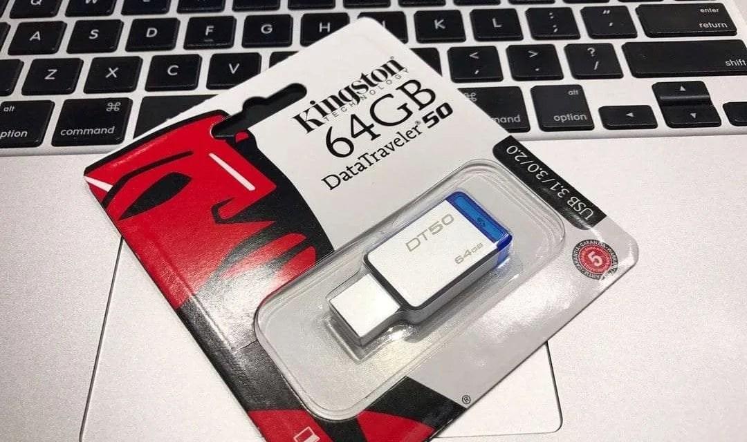 Kingston 64GB DataTraveler 50 USB 3.1 Drive REVIEW