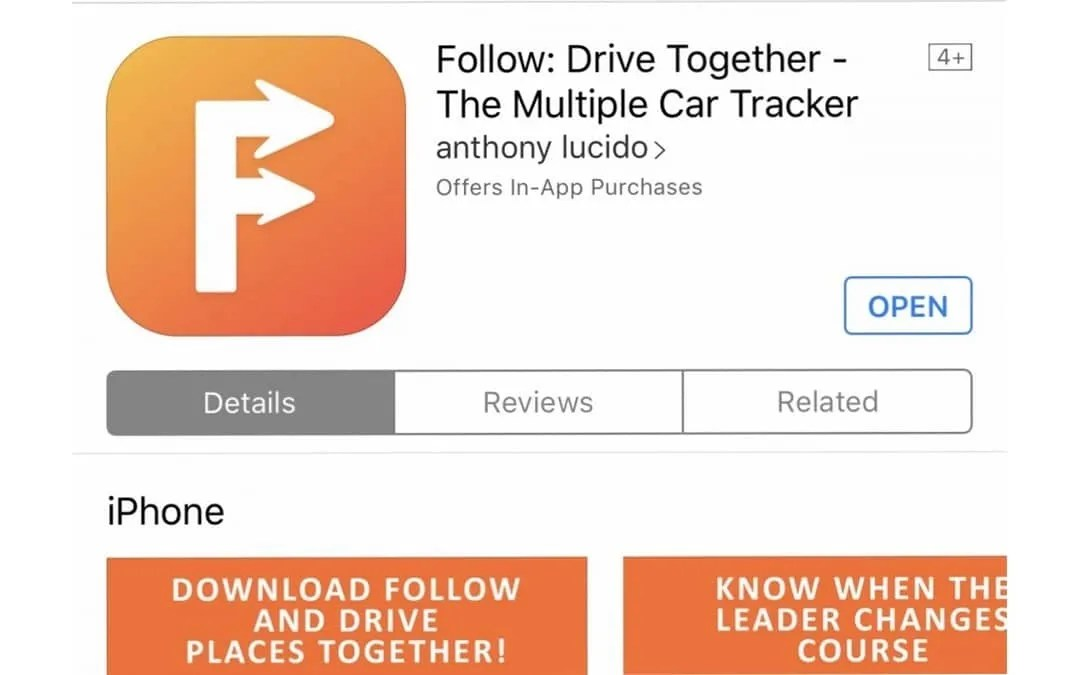 Follow: Drive Together iOS App REVIEW