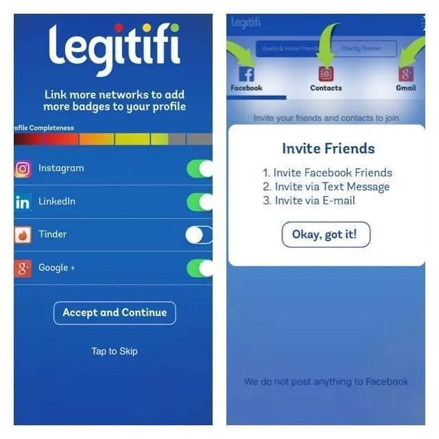 Legitifi App REVIEW Create a profile to prove to others you