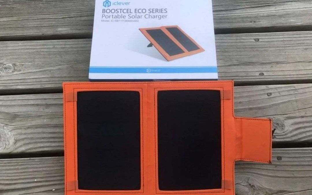 iclever BOOSTCEL ECO SERIES Portable Solar Charger REVIEW Never be without power again.