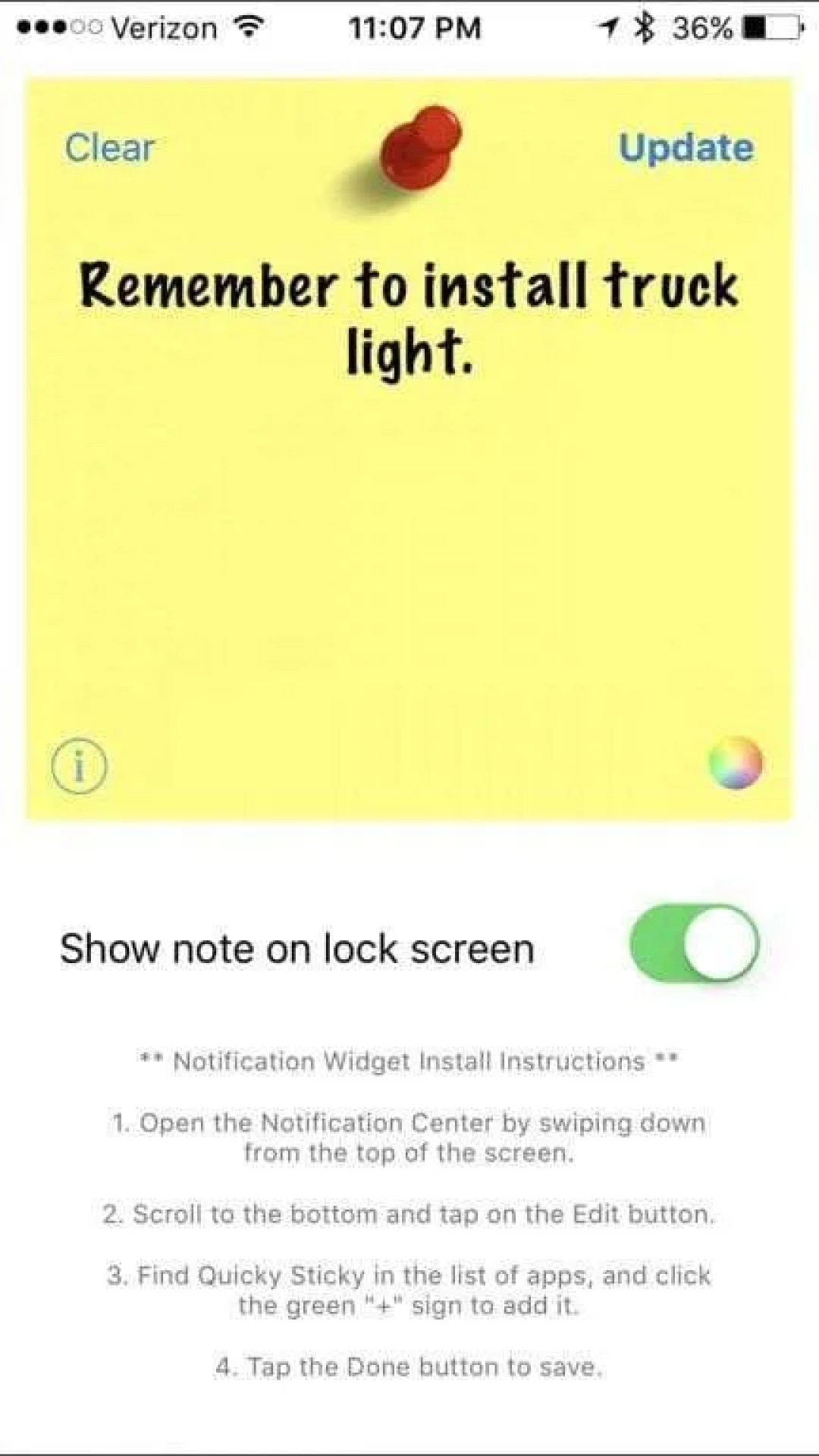 Quicky Sticky Notes iOS App REVIEW