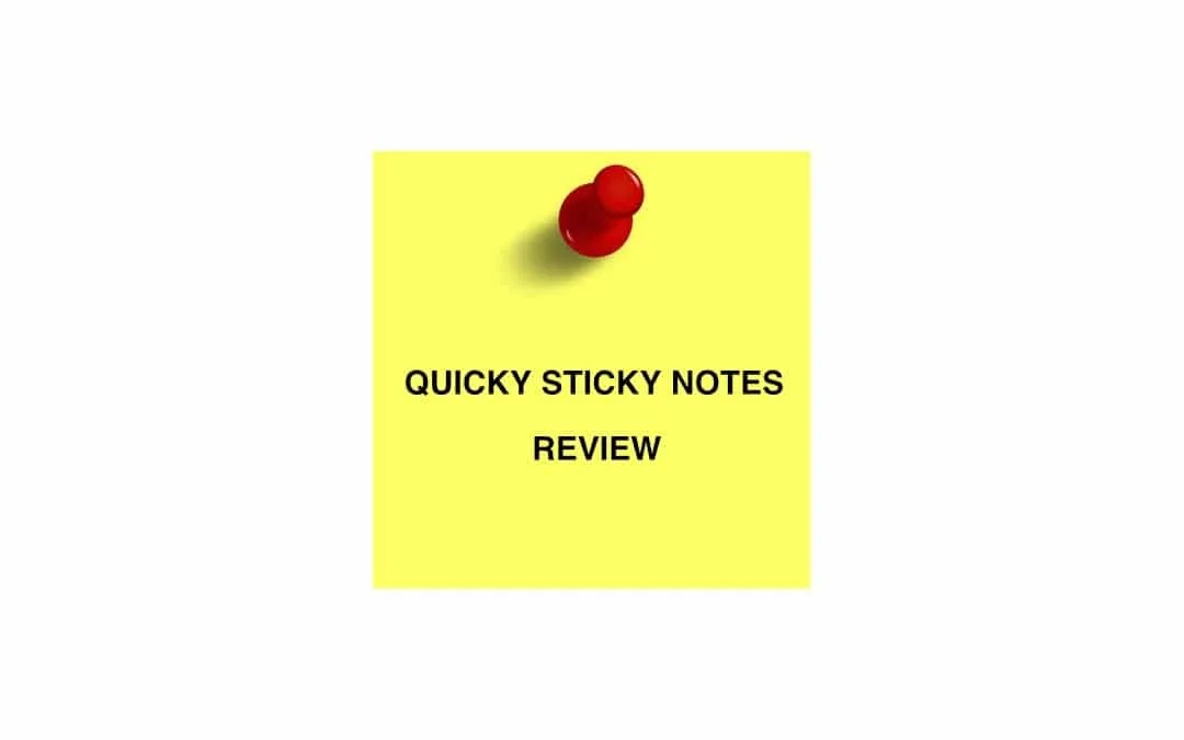 Quicky Sticky Notes iOS App REVIEW You just have to remember