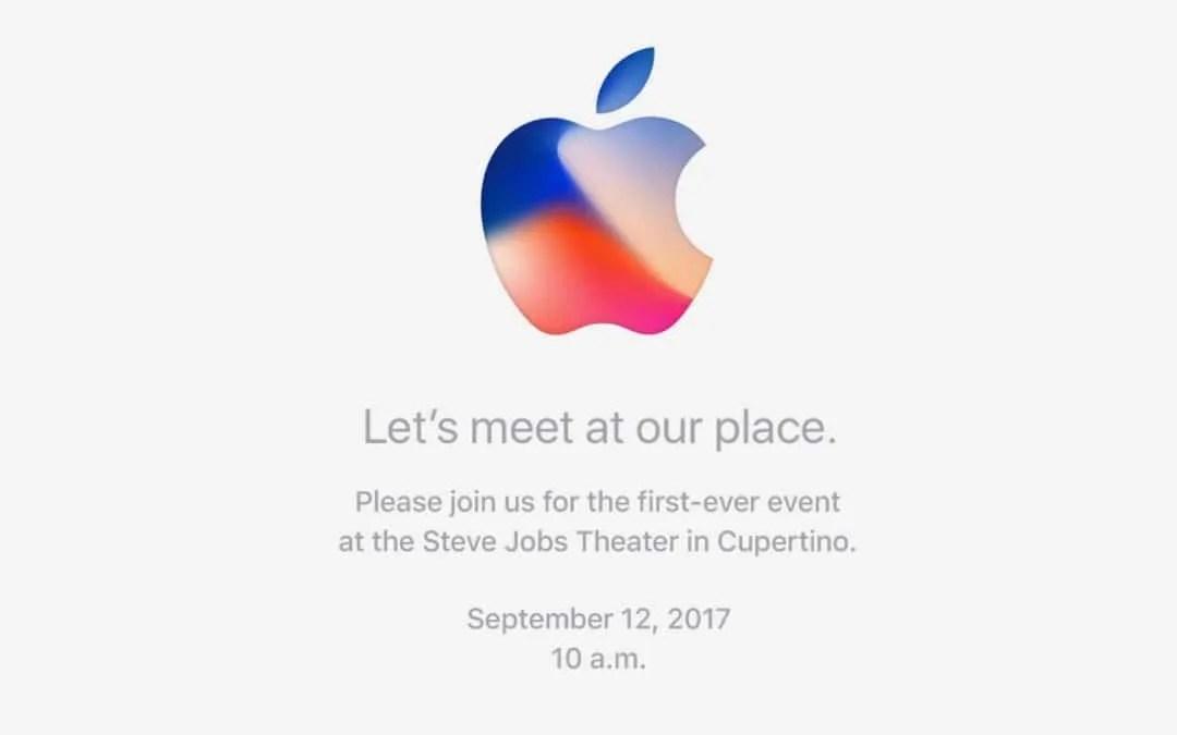 Apple Announces Sept 12 iPhone 8 Event NEWS