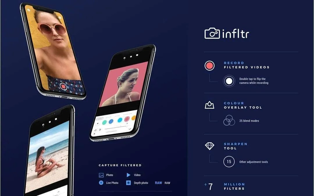 infltr Receives Update to include Recording Filtered Videos and Extending Apple's Portrait Lighting Effect NEWS