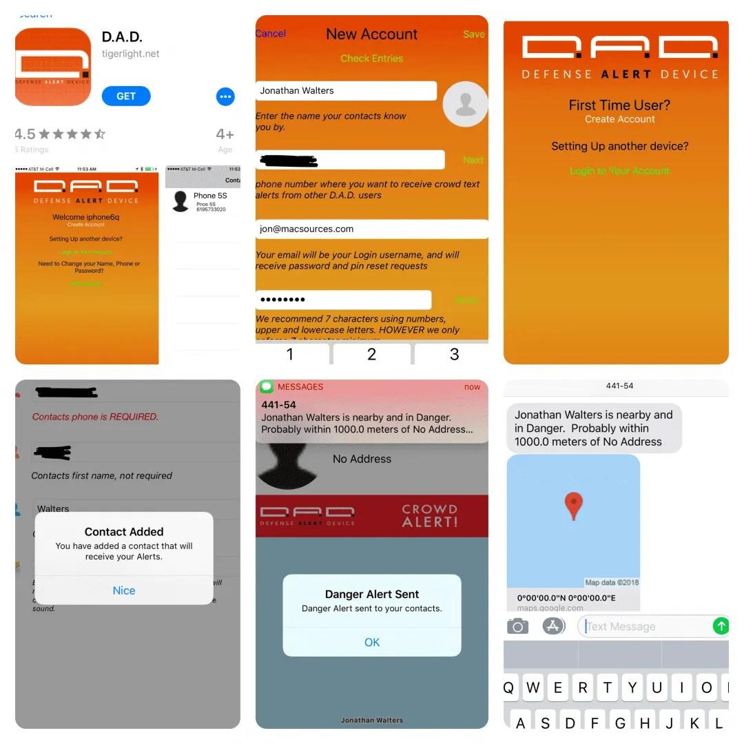 D.A.D Alert App