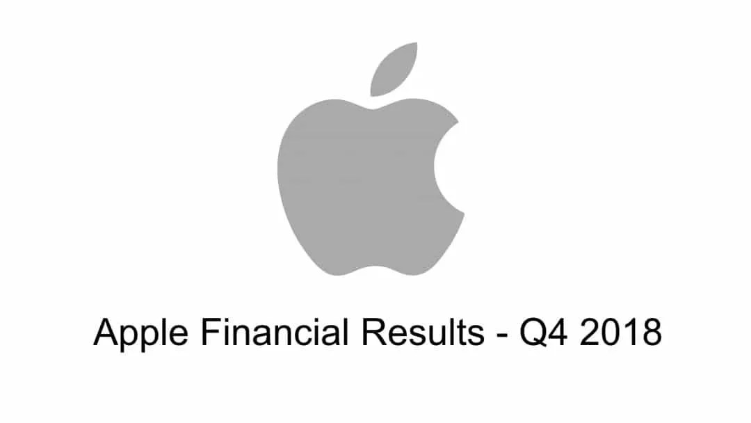 Apple Reports 2018 Fourth Quarter Results NEWS