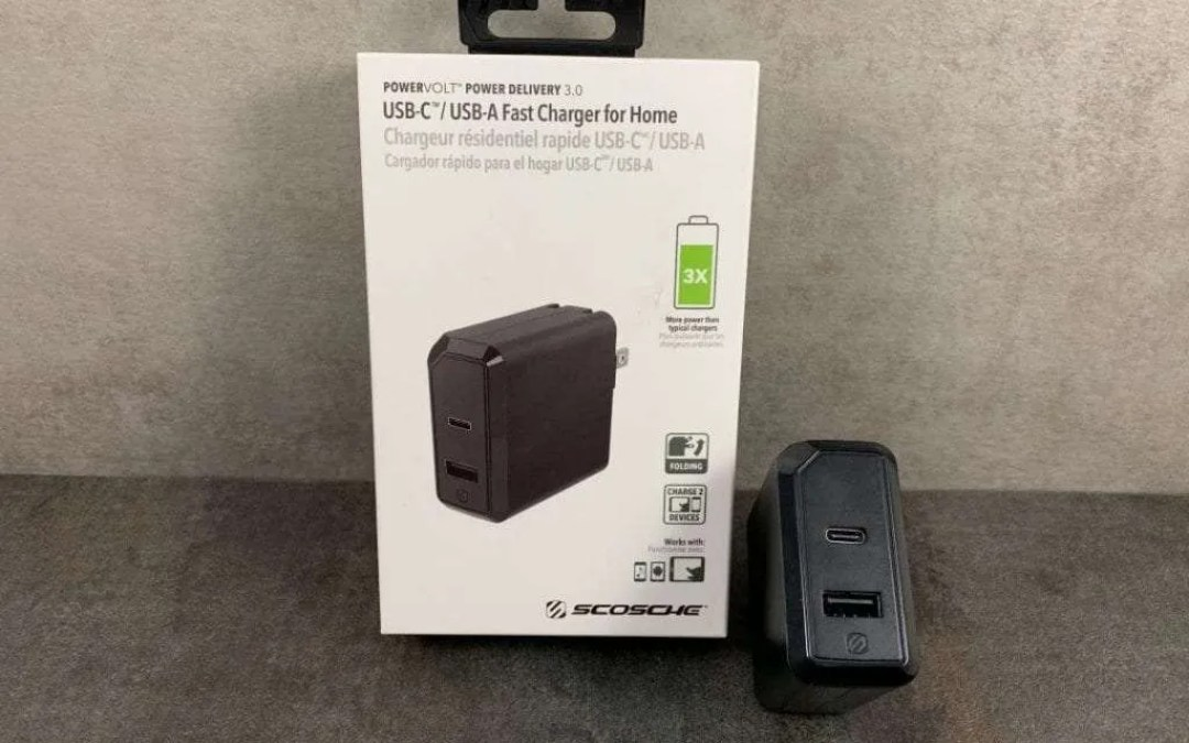 Scosche POWERVOLT POWER DELIVERY 3.0 REVIEW Dual Port USB C and USB A Wall Charger