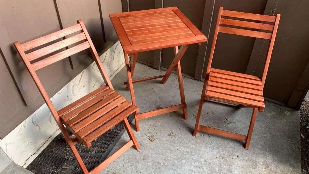 VIFAH Outdoor Wood Folding Bistro Set REVIEW