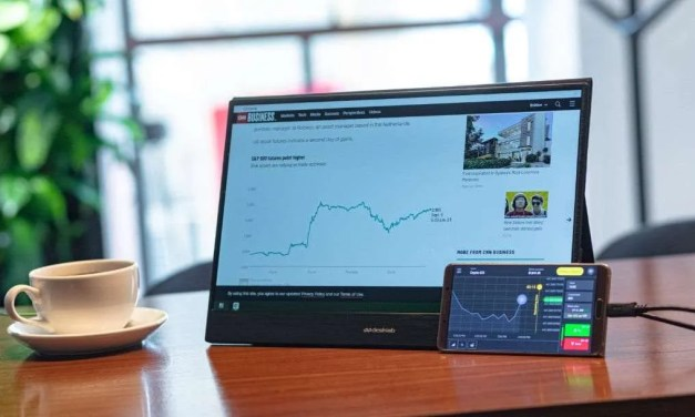 Desklab Razor-Thin Portable Monitor and Workstation Surpasses Funding on Kickstarter