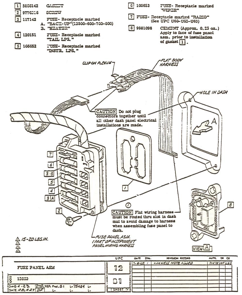 1960 karmann ghia wiring harness