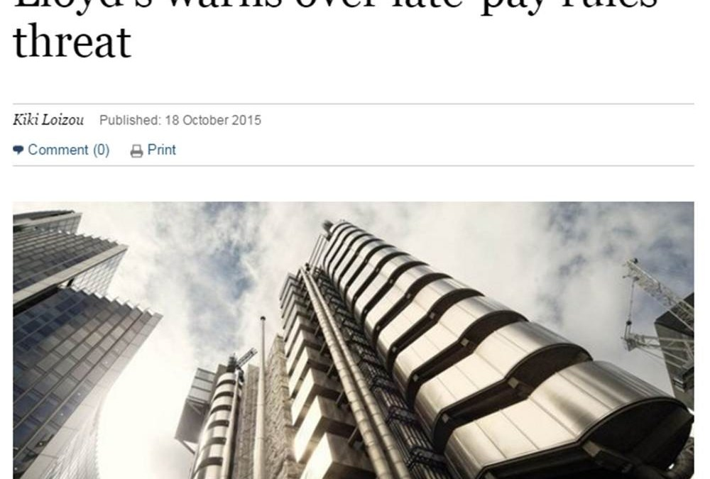 The Sunday Times – Mactavish counters Lloyd's warning over late-payment rules