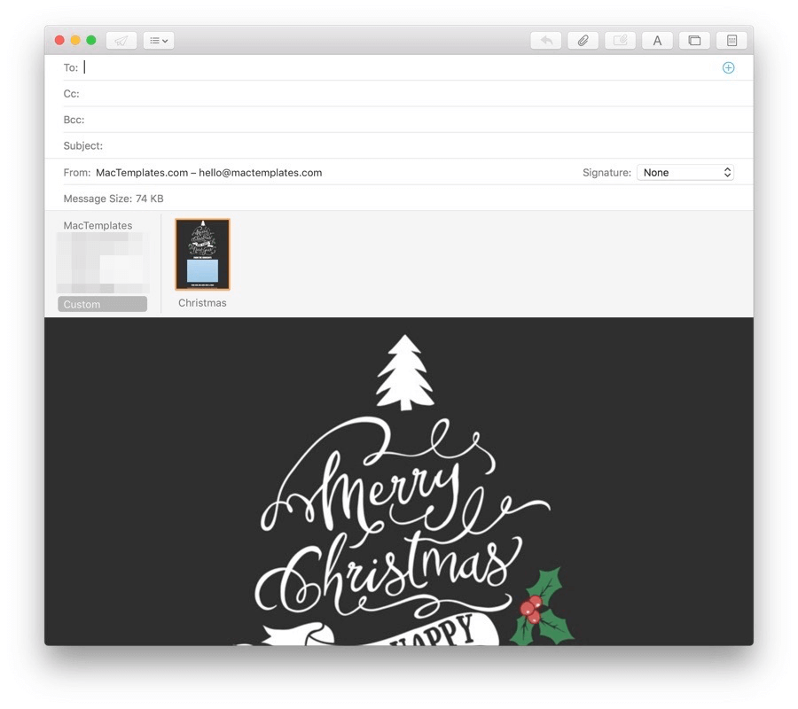 Microsoft Outlook Email Stationary Christmas