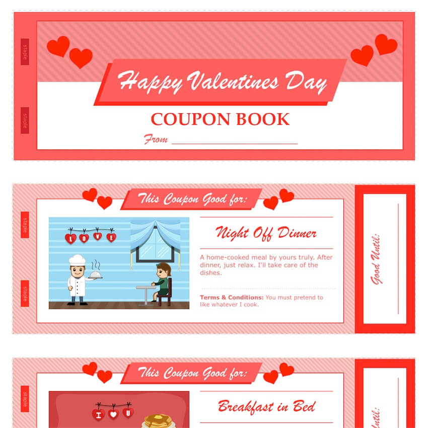 Valentines Day Coupon Book For Pages Amp PDF
