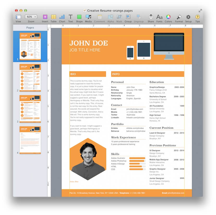 creative resume template microsoft word free newsound co