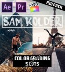 SAM KOLDER (kold) 2018 Pro Color Grading – Lut Pack (5 luts) for Final Cut Pro X, Adobe Premiere Pro, After Effects and more
