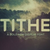 Tithe a bold new display font 433769 icon