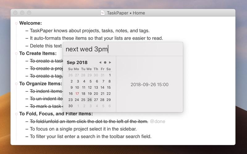 TaskPaper – Plain text to-dos Screenshot 4