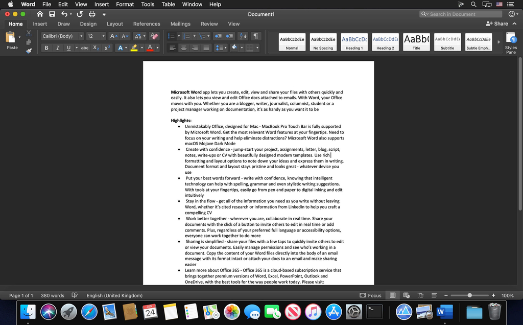 Microsoft Word 2019 1629 VL Screenshot 02 1ir9mtqy