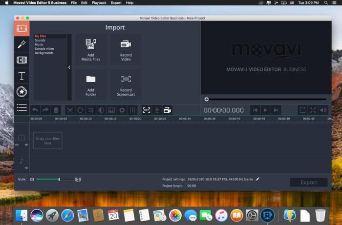 Movavi Video Editor 15 Business 1550 Screenshot 01 liug5uy