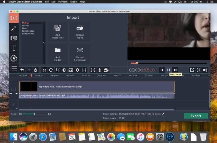 Movavi Video Editor 15 Business 1550 Screenshot 02 liug5uy