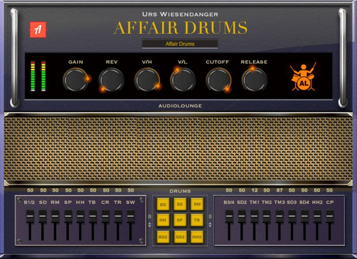 Audiolounge Urs Wiesendanger Rhodes Affair Drums AU VST Screenshot 01 v5h8h4y
