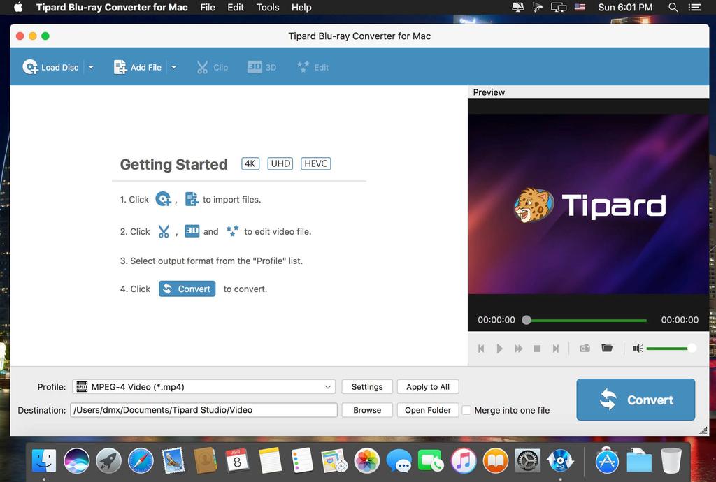 Tipard Blu_ray Converter for Mac 9218 Screenshot 01 bn94ovy