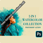 5 in 1 Watercolor Collection Bundle Photoshop Action