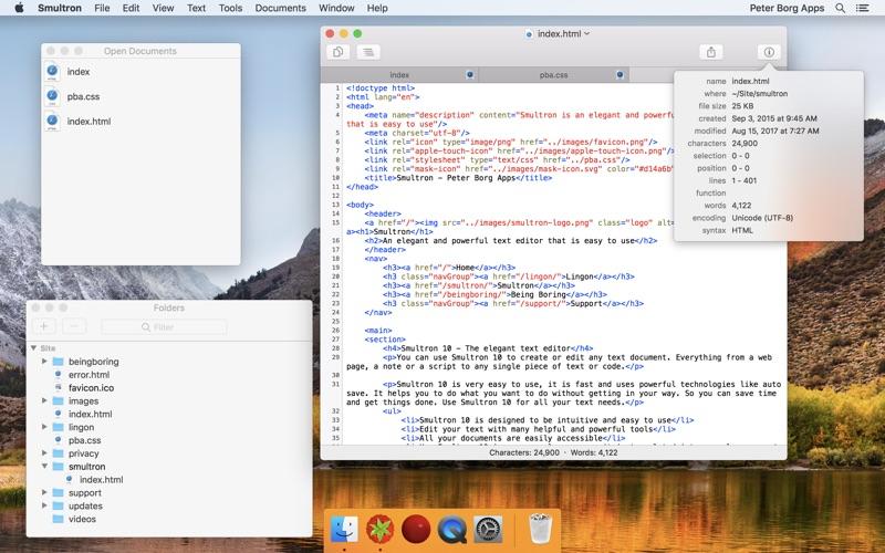 Smultron 10 - Text editor Screenshot 04 tb0hqgy