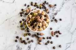 amandes pistaches cacahouete