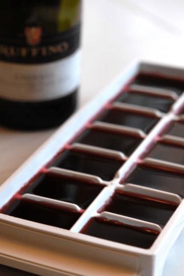 glaçons au vin