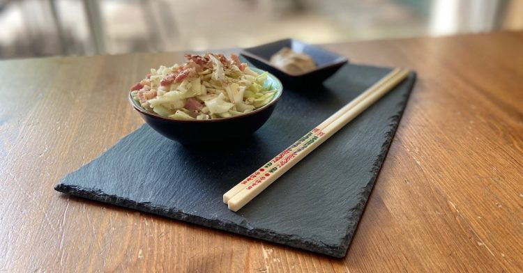 Ma salade chou blanc lardons aux saveurs d'Asie