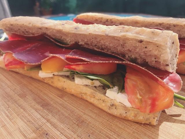 Sandwich pique-nique improvisé