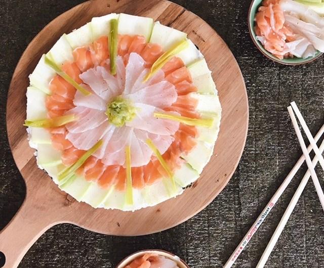 Gâteau de sushis maison