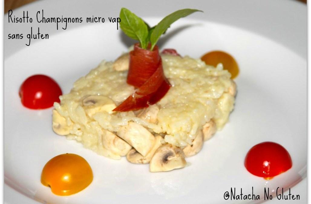Risotto aux champignons et jambon cru sans gluten