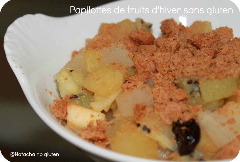 Papillote de fruits d'hiver sans gluten en sachet cuisson Albal