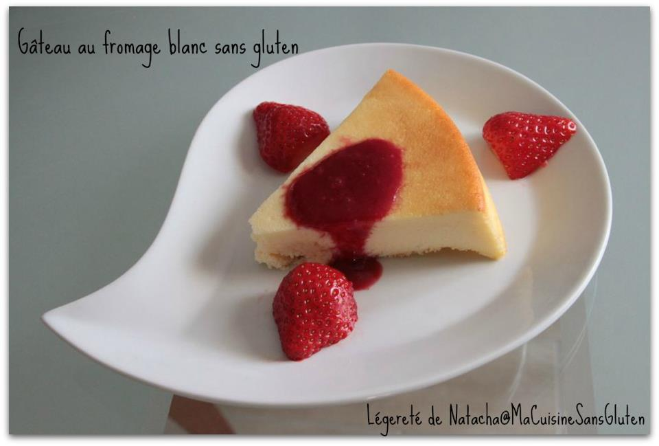 Gâteau fromage blanc sans gluten