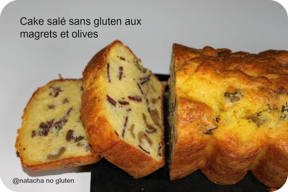 Cake salé aux magrets de canard séchés sans gluten