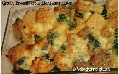 Gratin de brocolis sans gluten (croustillant à souhait!)