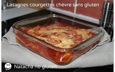 Lasagnes sans gluten courgettes chèvre