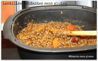 Lentilles fondantes sans gluten