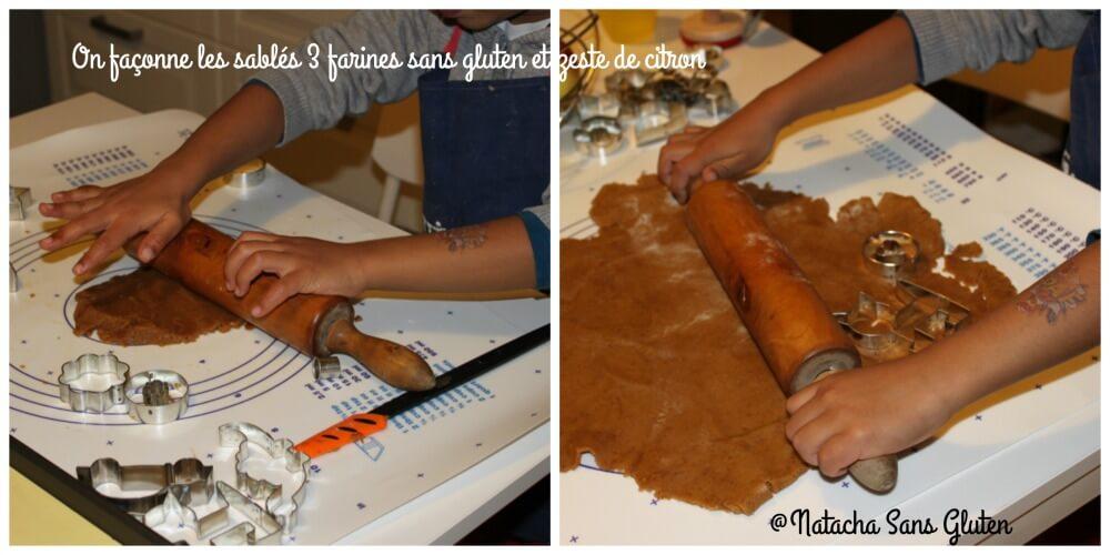 Préparation des sablés aux 3 farines sans gluten