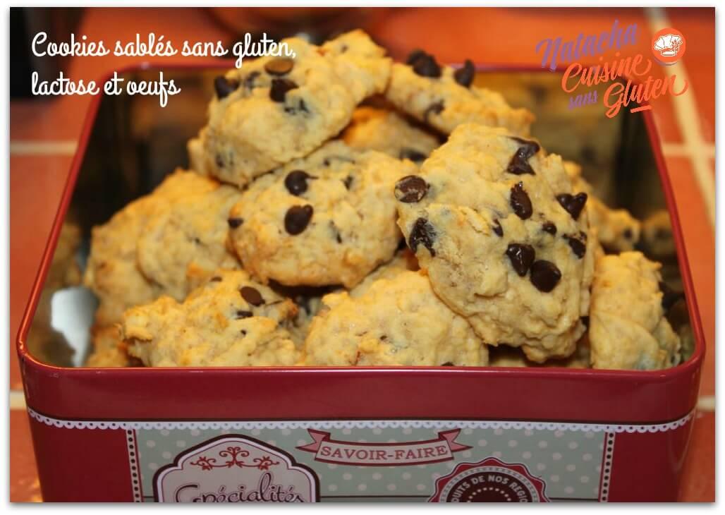 Cookies sablés sans gluten lactose et oeufs
